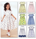 Childrens Girls Dress Pattern B3762 Size 2,3,4,5