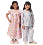 Children's Top, Gown and Pants B6076 Sizes 3, 4, 5, 6