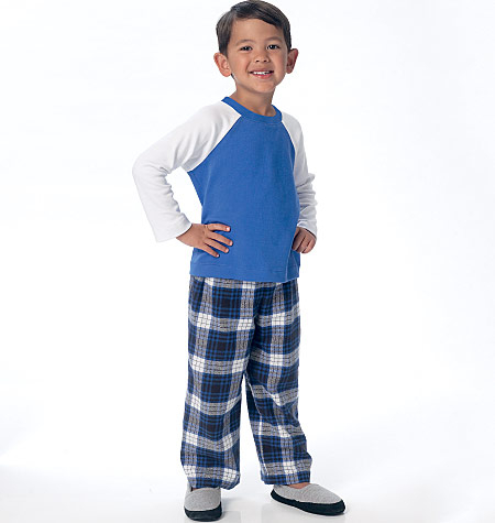 Butterick B6278/CL | Childrens/Boys Raglan Sleeve Tops Shorts and Pants |  Size (6-7-8) | Sewing Pattern