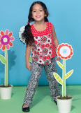Children's/Girls' Overlay Tops, Yoked Dresses, Shorts and Pants M7346 Sizes 2, 3, 4, 5