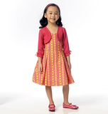 Children's/Girls' Shrug and Dress B6037 Sizes 3, 4, 5, 6, 7, 8