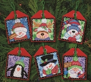 Christmas Pals Ornaments Cross Stitch Kit (Set of 6)
