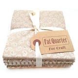Κλασικό Μπεζ Χρώματα Fat Quarters, Pack 6