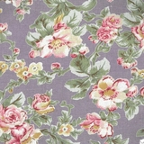 Classic Floral on Lilac Fabric For Craft & Bag Making