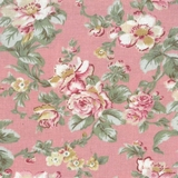 Classic Floral on Pink Fabric For Craft & Bag Making