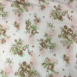 Classic Roses on Pink Fabric For Craft & Bag Making