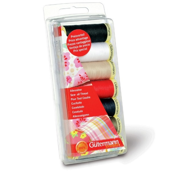 Classic Shades 100m Sew All Thread 7pk Sewing Thread