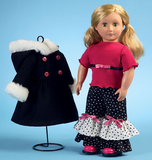 McCalls M6854/OS | Clothes For 18 Doll Accessories and Carrier | One Size | Sewing Pattern