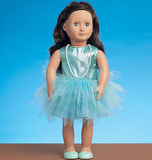 McCalls M7336/OS | Clothes for 18 Dolls | One Size | Sewing Pattern