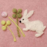 Clover and Rabbit Needle Felting Applique Mould
