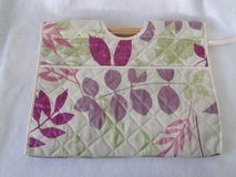 Colourful Leaves on Tan Knit Craft Bag