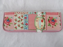 HobbyGift | Contemporary Patchwork Rose Knitting Pin Case | Clearance