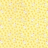Cotton Tale Farm Chickens & Chicks on Yellow Fabric