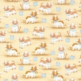 Cotton Tale Farm Cows on Tan Fabric