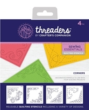 Crafters Companion Threaders Quilting Stencils - Corners
