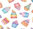 Cupcakes Sweet Things Fabric  2