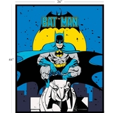 DC Comics II Batman in Blue Fabric Panel