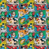 DC Comics II Multi Group Collage Flannel Fabric