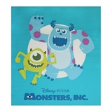 Disney Pixar Monsters Inc Blue Fabric Panel