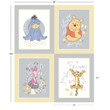 Disney Winnie The Pooh - Multi Character Fabric Panel