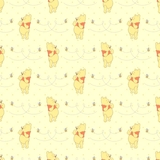 Disney Winnie The Pooh on Honeybee Yellow Fabric