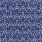 Dutchess Metallic Packed Medallions On Blue Fabric
