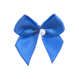 Electric Blue Pearl Crossover Bow 6pk