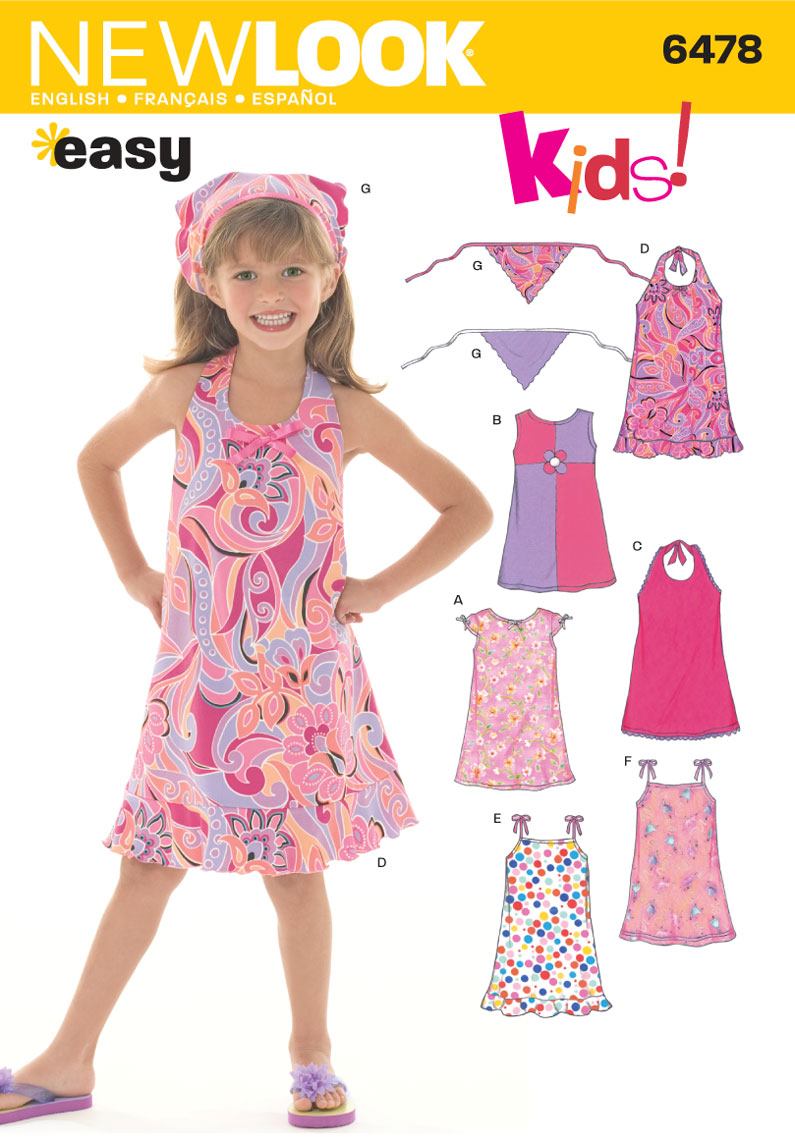 New Look U06478A | Child Dresses | Size A (3 - 4 - 5 - 6 - 7 - 8) | Sewing Pattern