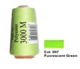 Fluorescent Green Overlocking Thread 3000m