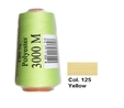 Yellow Overlocking Thread 3000m