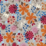 Folklore Forest Multi Floral Fabric