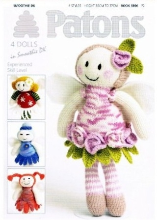 Four Fairy Flower Dolls Knitting Patterns 3806 Haberdashery Online