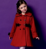 Girls Coat Pattern B5946 Size 2,3,4,5
