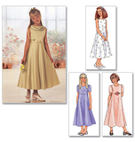 Girls Dress Pattern B3714 Size 7, 8, 10