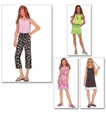Girls Plus Top, Dress, Shorts & Pants Pattern B3860 Size 7,8,10,12,14