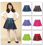 Girls Skirt Pattern B4593 Size 7,8,10