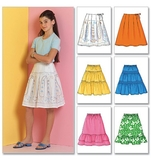Girls Skirt Pattern B4722 Size 7,8,10