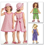 Girls Top, Dress, Pants and Hat B5019 Size 2,3,4,5