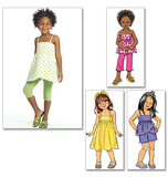 Girls Top, Dress, Shorts, Pants And Leggings Pattern B5020 Size 2,3,4,5