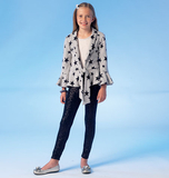 Girls'/Girls' Plus Vests, Cardigans and Leggings M7042 Sizes 7, 8, 10, 12, 14
