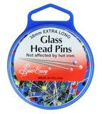 Glass Head Pins 44mm