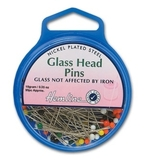 Glass Headed Pins 34mm