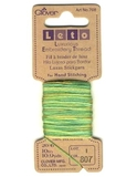 Clover Luxurious Embroidery Threads | Gold and Green Variegated | CL708/807