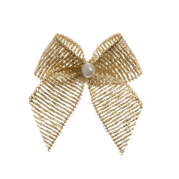 Gold Pearl Crossover Bow 6pk