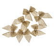 Gold Pearl Crossover Bow 6pk  3