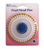 Gold Pearl Head Pins 38mm
