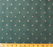 Green & Gold Stars Fabric