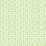Green Maze on White 1 Metre Fabric