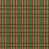 Green Metallic Tartan Fabric Fat Quarter