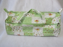 Patchwork Green Floral Knit Craft Bag [Clearance]